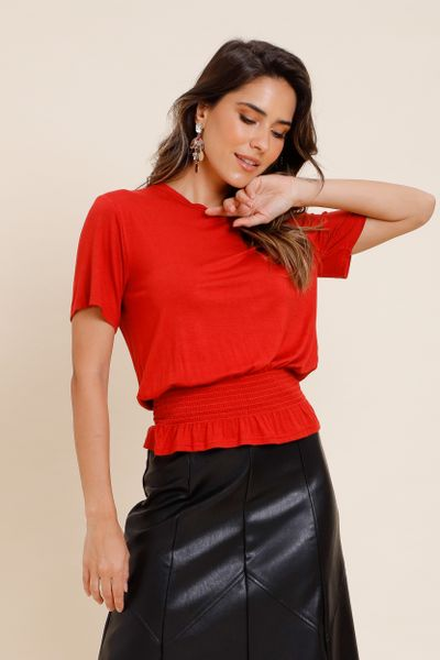 T-Shirt Lastex Suzy Vermelho P