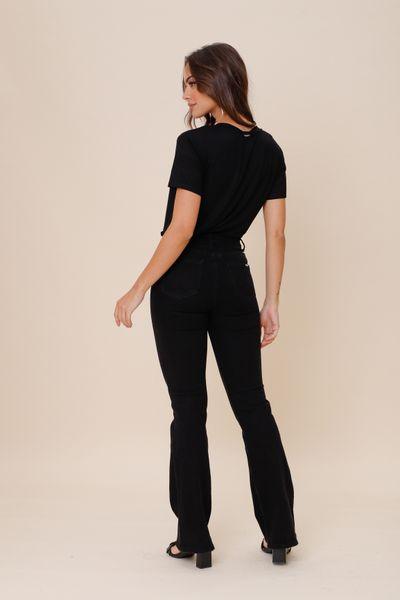 Calça Botões Frontal  Jeans 36