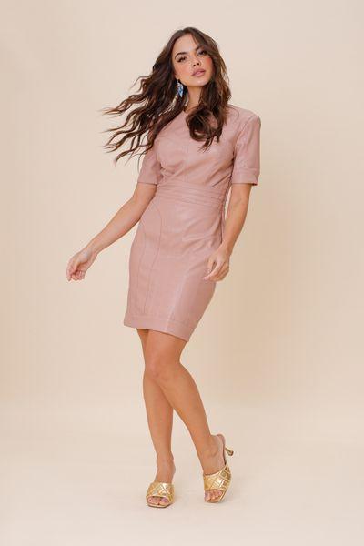 Vestido Super Cut M/C Rosê 36