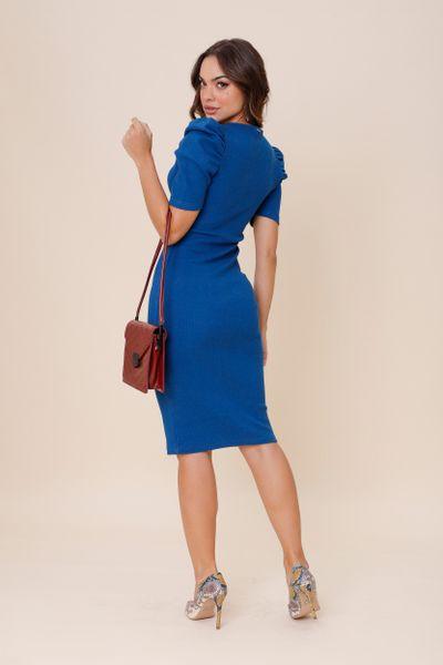Vestido Canelado Princesa  Azul P