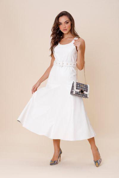 Vestido Faux Off-white 40