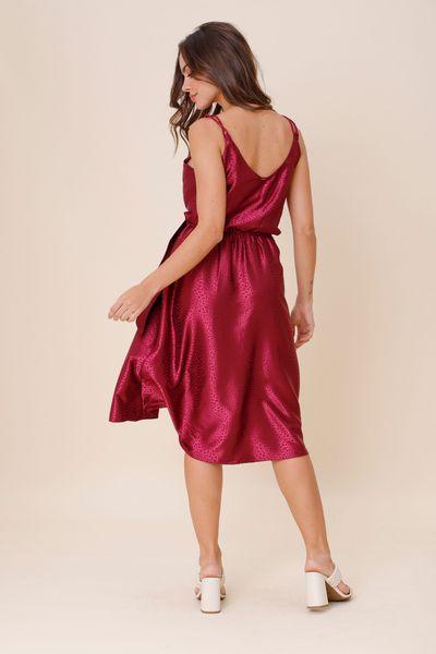 Vestido Transpasse Satin Roxo  36