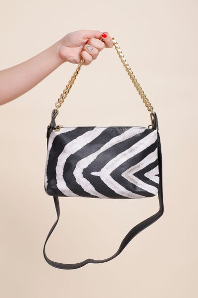 Bolsa Ombro Correntes Zebra Print Branco