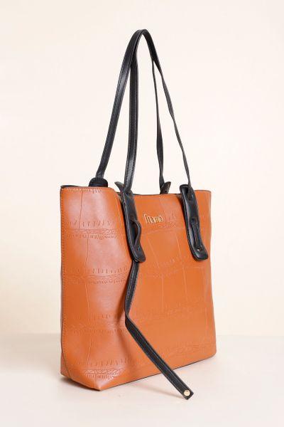 Shopping Bag Detalhe Alça Caramelo