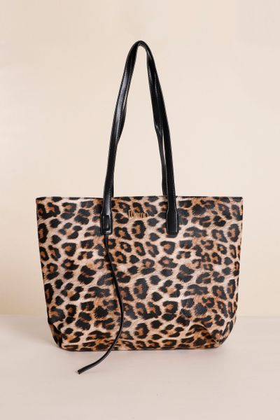 Shopping Bag Onça Print Marrom