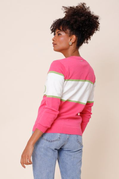 Blusa Tricot MG Longo I´M Blessed Pink P