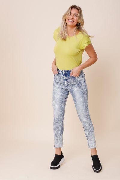 Calça Marmorizada  Jeans 36