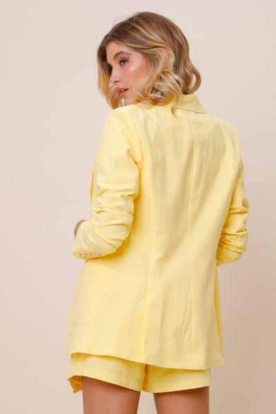 Blazer Alfaiataria Botões  Amarelo 44