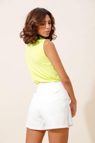 Shorts Saia Tweed Com Botões Off-white 36