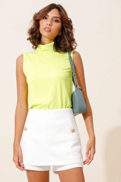 Shorts Saia Tweed Com Botões Off-white 38