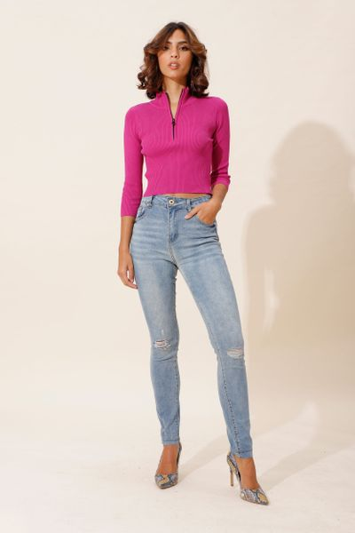 Calça Jeans Skinny Isa Azul índigo 36