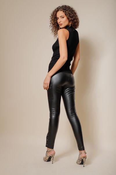 Calça de Pu Samantha  Preto 36