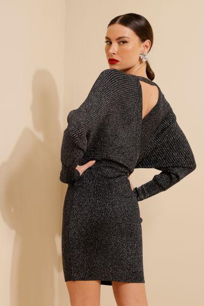 Vestido Transpasse Curto Preto P