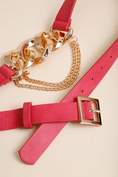 Cinto Correntes Fashion Pink M