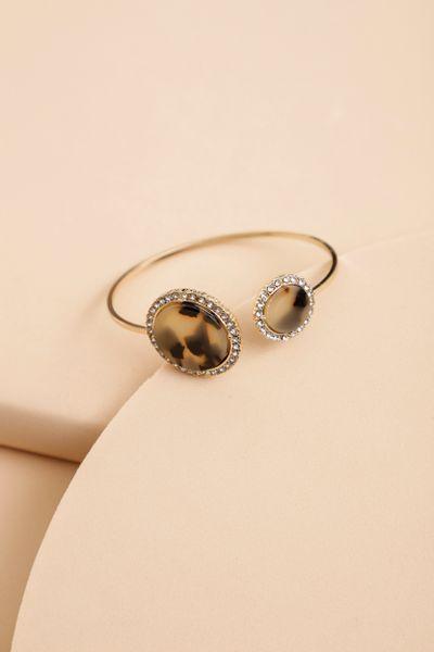 Bracelete Resina Dourado