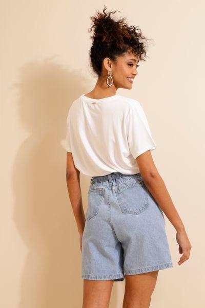 Bermuda Jeans Clochard Azul 36