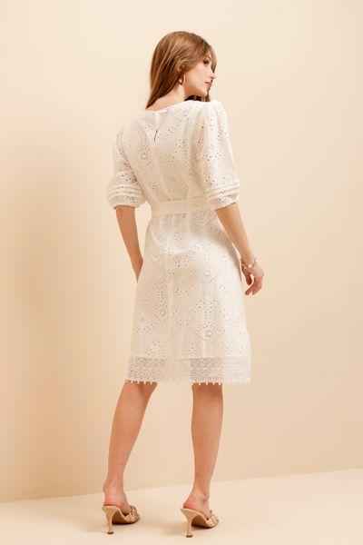 Vestido Laise Fresh Off-white 36