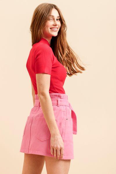 Blusa Tricot Gota Decote Vermelho P