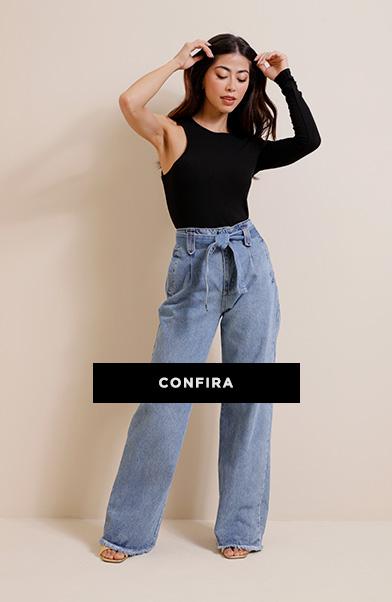 a calça jeans é a queridinha sempre