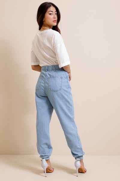 Calça Jeans Jogging  Azul claro  36