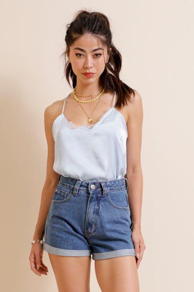 Shorts Jeans Barra Italiana  Azul índigo 36
