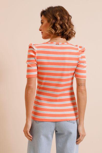 Blusa Canelada Colors Princesa Laranja 36