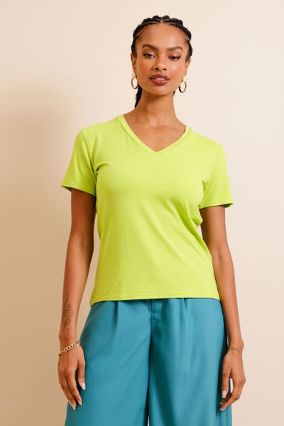 Camiseta Basic Decote V Lima P